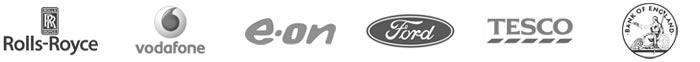 Galsys gedeeltelijke klantenlijst, Rolls-Royce, Vodaphone, EON, Ford, Tesco, Bank of England
